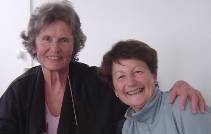 Ione Evans and Louise Palairet in New Zealand