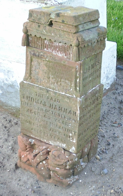 Gravestone of Thomas and Janet Hannan in Girvan