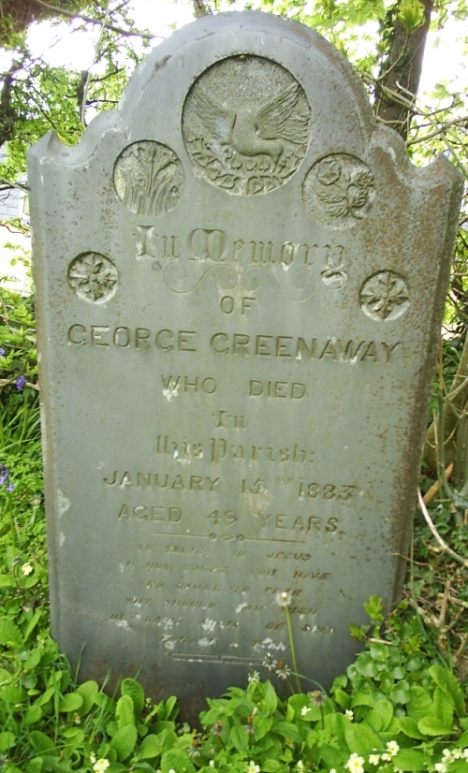 Grave of George Greenaway in St Breward Churchyard