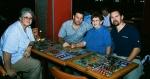 Val Hayes, Walter Crighton, Nita Harris, Roger Harris, at BJ's Restaurant, Midrand, 11 December 2002