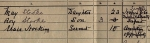 1911 Census Entry for 6 Raleigh Terrace, Exmouth, Devon, England