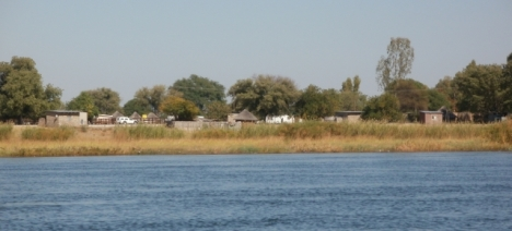 Shakawe, Botswana, from the Okavango River