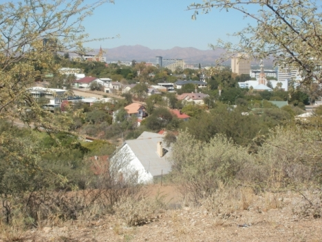 Windhoek city centre, with St George's Anglican Catrhedral, 13 May 2013