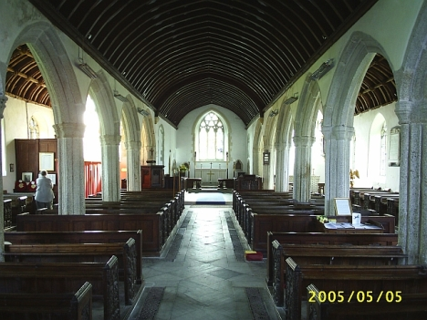 St Meubred's Church, Cardinham, Cornwall -- ancestral bums sat on these pews