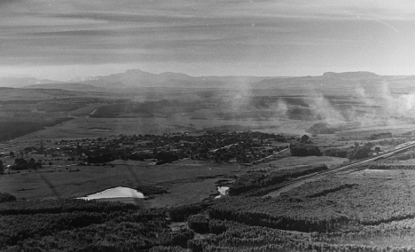 Paulpieterburg, Natal, from Dumbe mountain, 12 April 1977