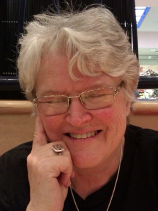Val Hayes, on her 65th birthday (25 Nov 2013). She planned to retire at the end of the month, but SAMA asked her to stay on until the financial year end.
