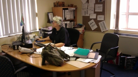 Val Hayes in her office at the South African Medical Association (SAMA)