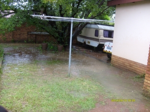 Our back garden has been one big puddle for a week