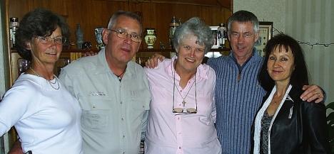Cousins: Maxine & John Wincott, Val Hayes, Ian & Zania McKenzie. Edinburgh, 11 May 2005