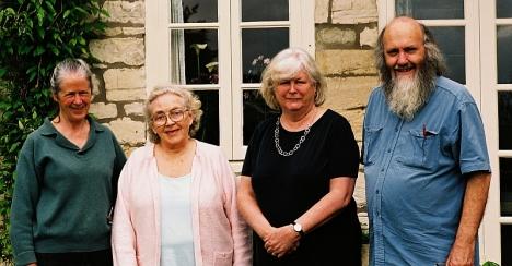 Hayes cousins: Josdephine Tsegaye, Mary Jane Conway, Catharine Stokes, Stephen Hayes. Kelston, Somerset 3 May 2005