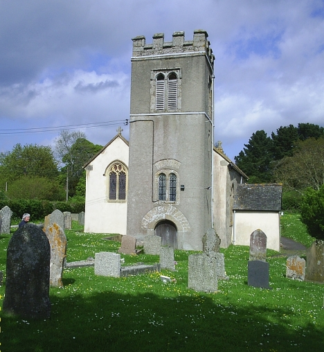 Trusham parish church. There are several monuments to members of the Stooke family inside the church. 4 May 2015