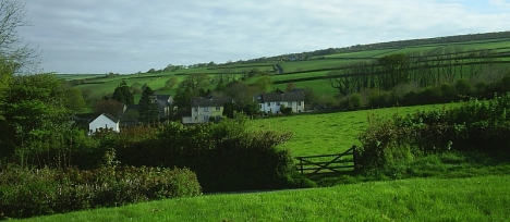 Cardinham village on the edge of Bodmin Moor, Cornwall, where the Sandercock family had lived for several generations 5 May 2005