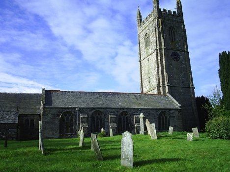 St Meubred's Church, Cardinham, where William Growden and Elizabeth Sandercock were married in 1792.