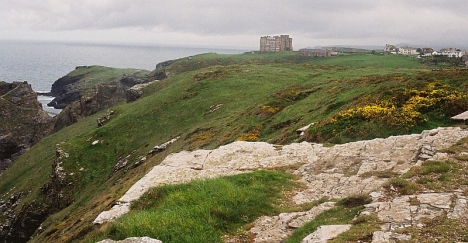 """King Arthur's Castle"" hotel at Titagel, Cornwall. 5 May 2005"