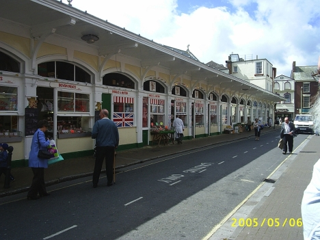 Market in Barnstaple, Devon