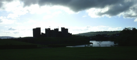 Caerphilly Castle, 7 May 2005