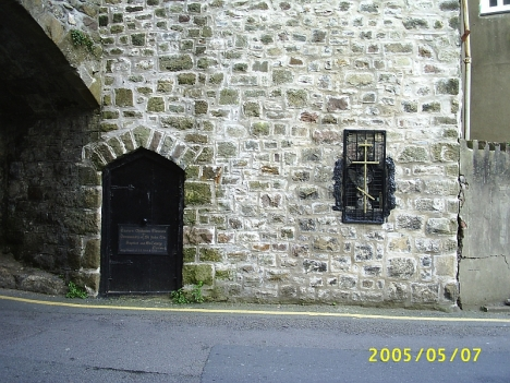 Orthodox Church in the city wall, Caernafon, Wales.