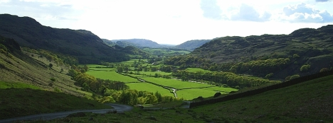 skdale, Cumbria, from the Hardknott Pass. 9 May 2005.