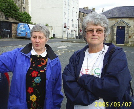 Viv Jones and Val Hayes, Caernafon, Wales.