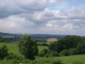 View over the Amber Vaslley from Coxbench, where members of the Stewardson family lived in the 18th century.