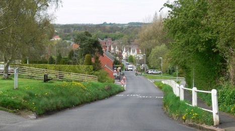 Donisthorpe village, home of the Morris family, on the border of Leicestershire and Derbyshire in England