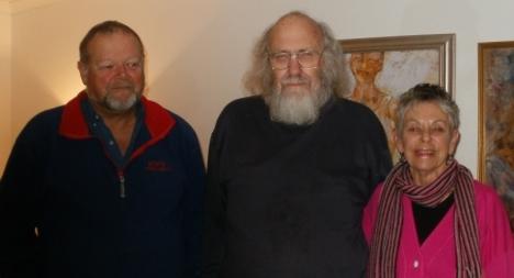 John Verster, Steve Hayes & Brenda Coetzee, Muizenberg, 26 August, 2015