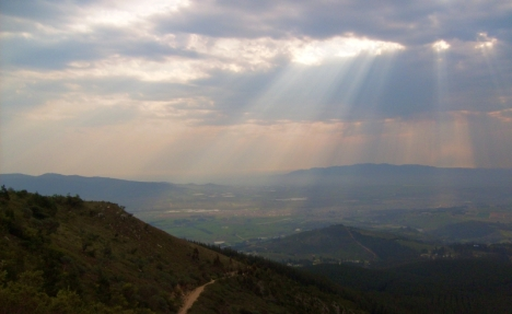 Paarl valley from Du Toit's Kloof Pass