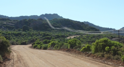 The road up the Kamiesberg to Leliefontein