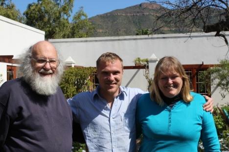 Steve Hayes, Gavin & Ailsa Grobler. Graaff Reinet, 4 September 2015