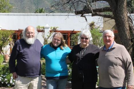 Steve Hayes, Ailsa Grobler, Val Hayes, Nick Grobler: Graaff Reinet, 4 September 2015