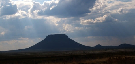 Toverberg, the Magic Mountain, also known as Cole's Berg, named after Sir Lowry Cole, sometime governor of the Cape Colony.