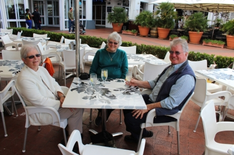 Cheryl Verrijt, Val Hayes, Theo Verrijt, Cape Town, 29 Aug 2013