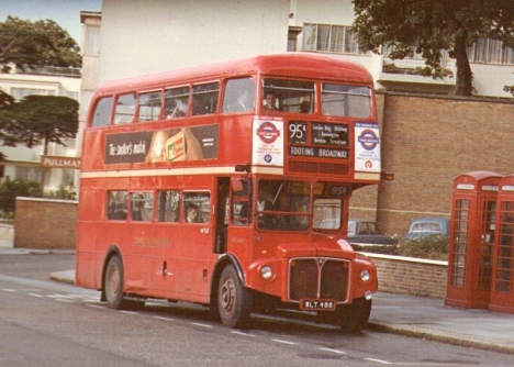 Routemaster bus at Brixton Garage.
