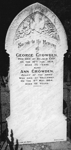 Grave of George Growden and Ann Maynard, ancestors of the Australian Growdens, in Wallaway, South Australia.?????????????????????????????????????????????????????????????????????????????????????????????????????????????????????????????