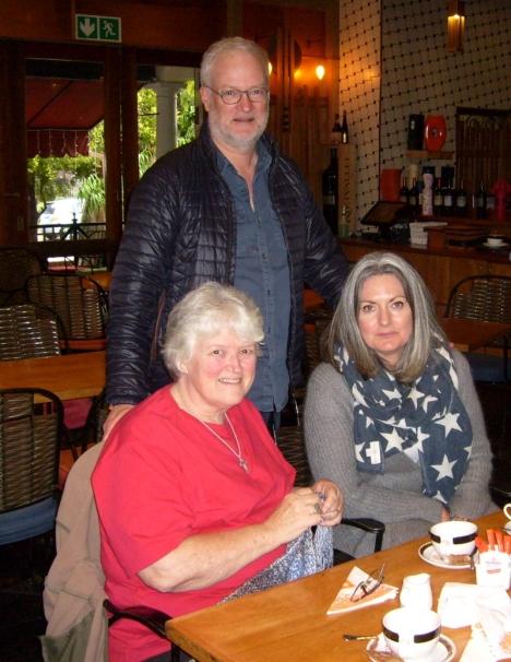 Val Hayes with Rupert & Sarah McKerron 14 May 2016