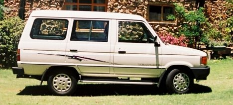 Our Toyota Venture, stolen on 10 July 2006